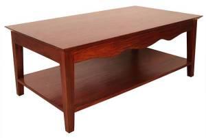 Une table en acajou