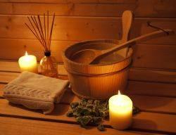 Les accessoires du sauna