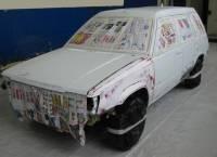 Marouflage d'une voiture